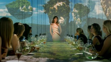 The world's most expensive restaurant pairs its dishes with  themed 360-degree wall projections.