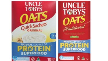 Uncle Tobys has paid penalties to the ACCC for making misleading protein content claims.