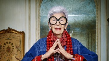 The 94-year-old American style icon Iris Apfel was recently signed to front Australian fashion brand Blue Illusion's autumn/winter advertising campaign.