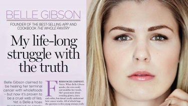 Belle Gibson in the