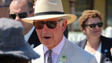 Prince Charles in Albany, WA on Saturday.