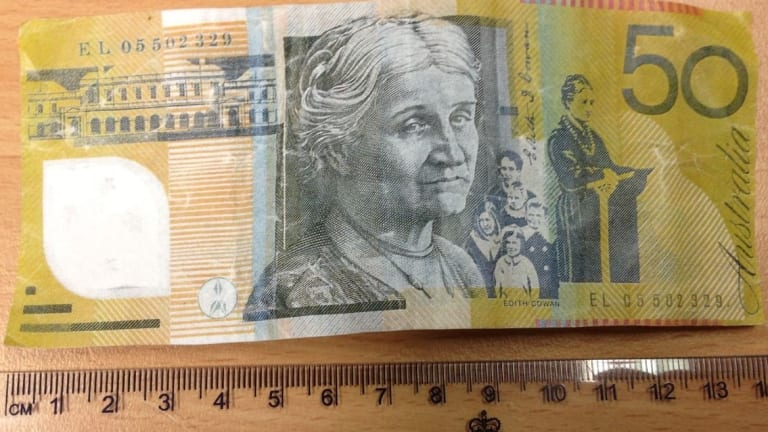 The $50 note is the most popular target for counterfeiters.