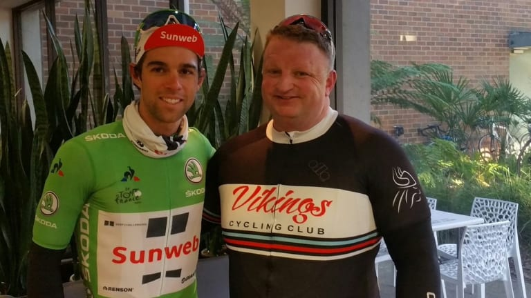 Michael Matthews at the Vikings Cycling Club's ride on Friday.