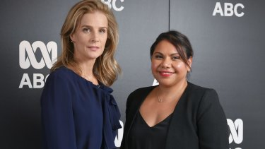 Rachel Griffiths and Deborah Mailman star in the new ABC drama series Black B*tch.