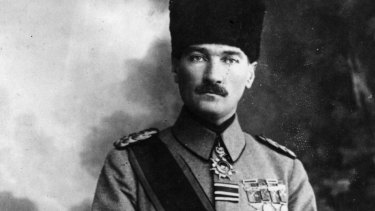Turkish statesman Mustafa Kemal Ataturk, circa 1920.