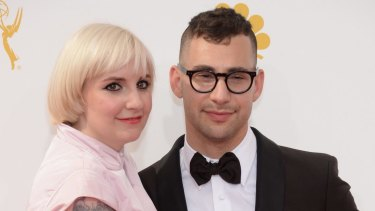 In happier times: Lena Dunham and Jack Antonoff at the Emmys in 2014.