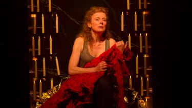 Makes Mary's broken heart seem real: Alison Whyte in Sydney Theatre Company's <i>The Testament of Mary</i>.