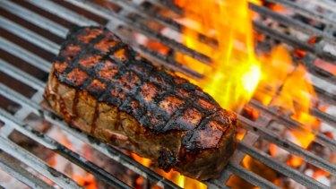 Wood-grilled steak at Longhorn Saloon.