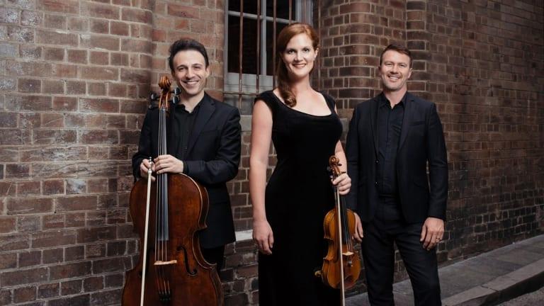 The Streeton Trio: Umberto Clerici, Emma Jardine and Benjamin Kopp.
