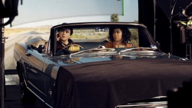 Nat Randall, left, with actor and artist Linda Chen in Randall and Anna Breckon'sRear View, 2018.