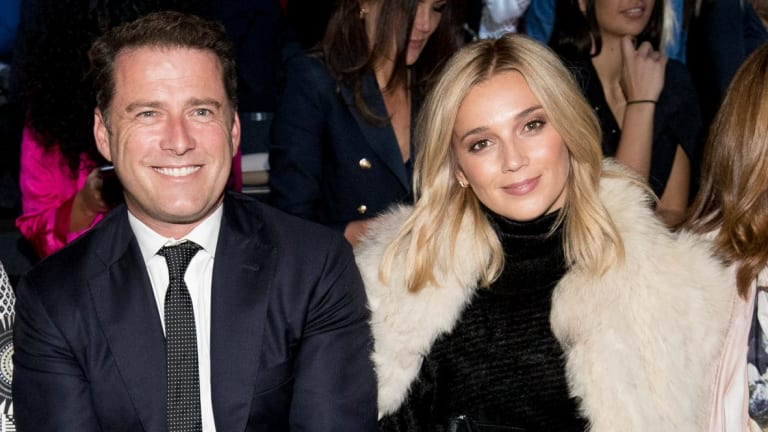 Karl Stefanovic and Jasmine Yarbrough at Fashion Week in Sydney in May.