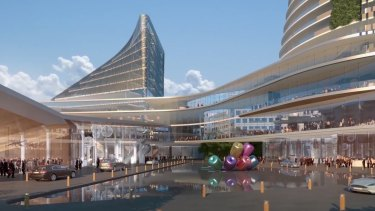 An artist's impression of the proposed redevelopment of the Aquis Canberra casino, as proposed two years ago.