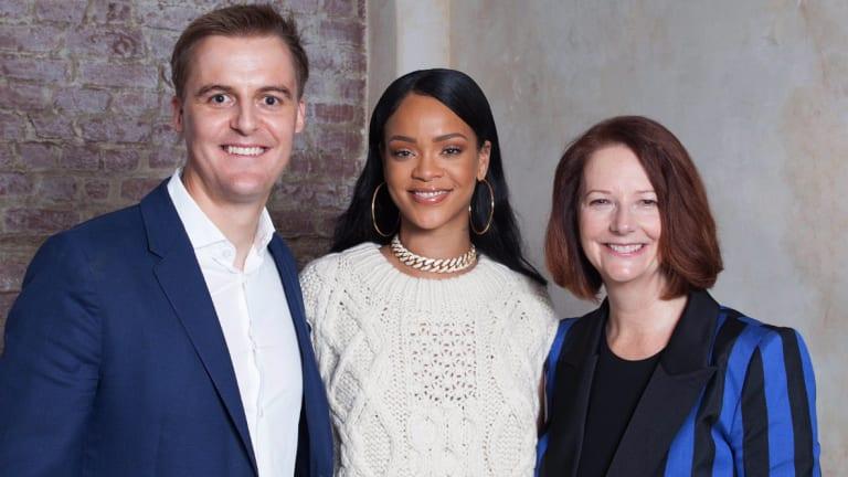 Hugh Evans, Rihanna and Julia Gillards have teamed up for a global education campaign.