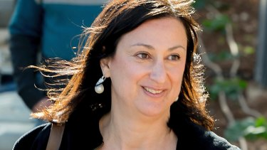 Political blogger Daphne Caruana Galizia was killed when her car was blown up.