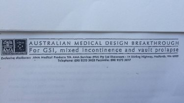 "An Australian Medical Association document describing the IVS Tunneller device as an ""Australian medical design breakthrough"" to treat incontinence and prolapse in women."
