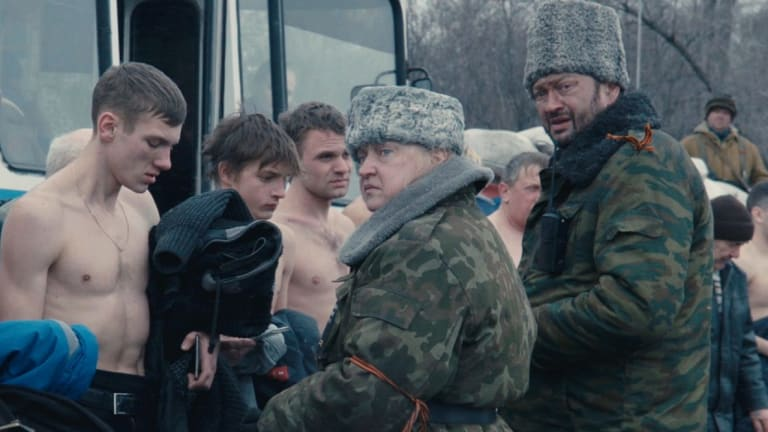 It is ''clear where humiliation is being created,'' says Donbass director Sergey Loznitsa.