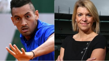 Impasse broken: Nick Kyrgios and Australia chef de mission Kitty Chiller.