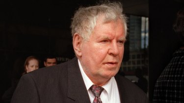 Maguire's father Alistar Laishkochav at Victorian County Court in 2000.