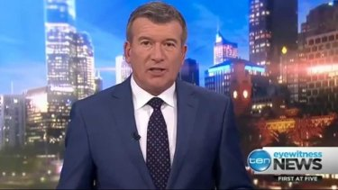 Stephen Quartermain presents Ten's Melbourne bulletin. Staff fear cuts to local news will cause ratings to drop.