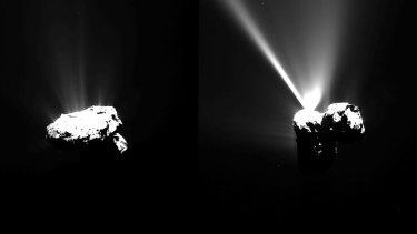 Images of Comet 67P/Churyumov-Gerasimenko as photographed by Rosetta.