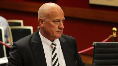 Former Leighton executive Stephen Sasse gives evidence at a hearing into corporate foreign bribery.