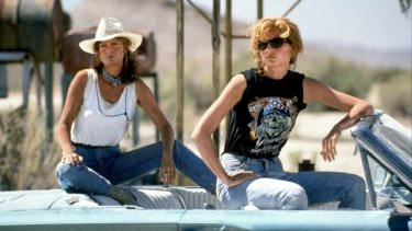 Geraldine Hakewill says <em>Thelma and Louise</em> was a big influence for <i>Wanted</i>.