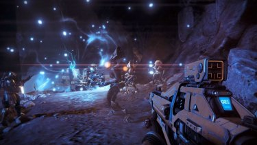 """30 seconds of fun"": Bungie's trademark firefights return in <em>Destiny</em>."