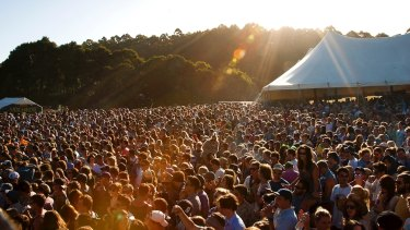 The crowd at Falls Festival in Marion Bay, Tasmania