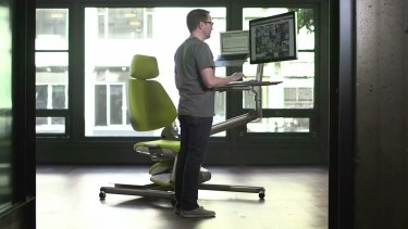 And it also converts to a stand-up desk.