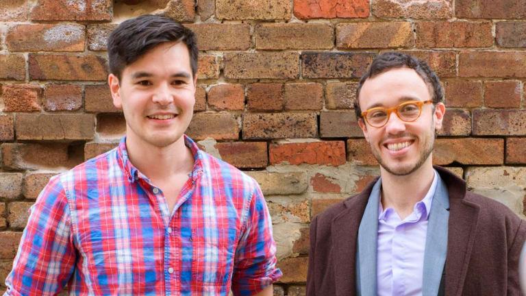 Ed Kearney (left) and Matt Schiller, co-founders of  successful start-up Snappr.