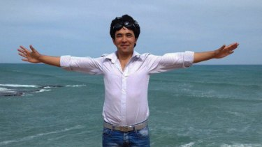 Mohammad Hadi, a Hazara asylum seeker, celebrating his release from detention.