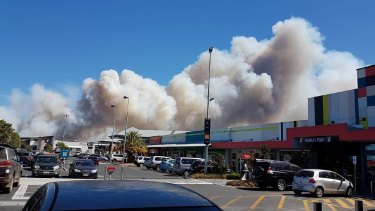 Smoke from the Picton fire.