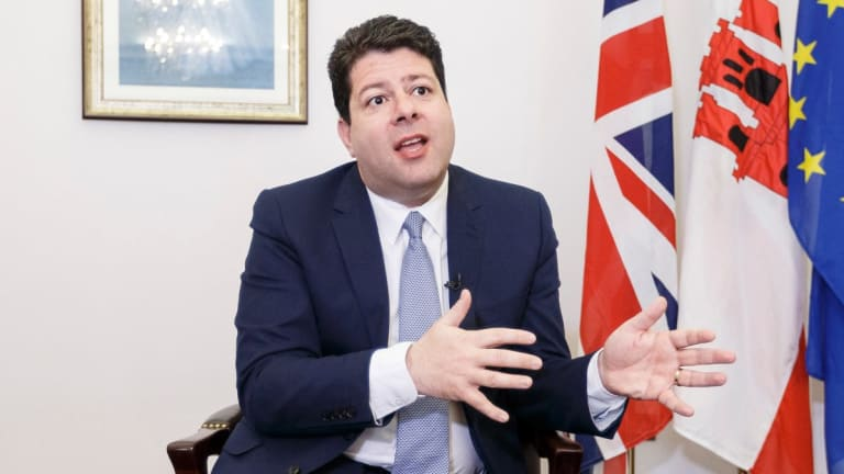Chief Minister of Gibraltar, Fabian Picardo. The people of Gibraltar have twice voted to remain British rather than be ruled by Spain.