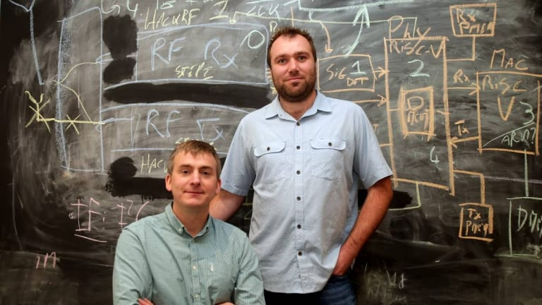 Morse Micro co-founders  Andrew Terry and Michael De Nil expect their chips to be in smart homes by 2020.
