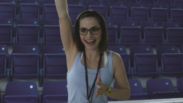 Charlotte Riley plays a sync-swim champion in Swimming with Men.