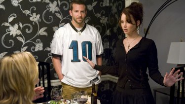 Jennifer Lawrence with Bradley Cooper in Silver Linings Playbook.