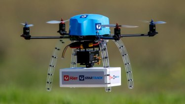 Australia Post tested drone technology to deliver small parcels in early 2016.