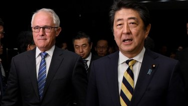Prime Minister Malcolm Turnbull and Japan's leader Shinzo Abe said the TPP would foster investment, generate billions in export revenue and create thousands of jobs.