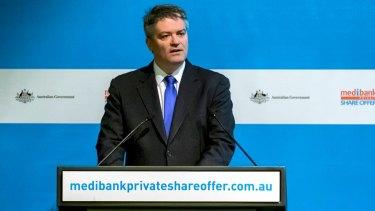 Coalition making good on election promises: Mathias Cormann.