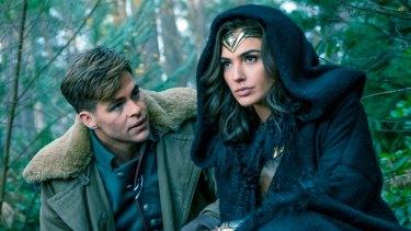 Too coy: Chris Pine and Gal Gadot in Wonder Woman.
