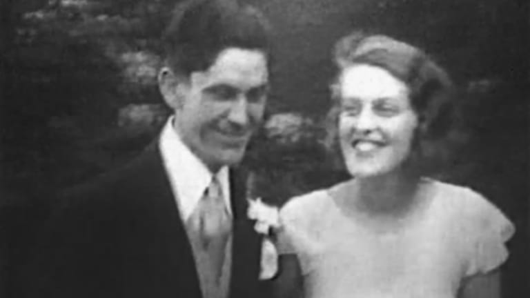"""""""More of a bohemian lifestyle than we had anticipated"""": John and Sunday Reed on their wedding day in 1932."""