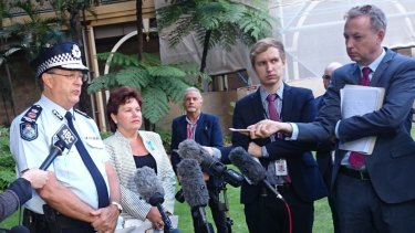 Queensland Police Commissioner Ian Stewart and Queensland Police Minister Jo-Ann Miller released the latest crime statistics on Thursday.