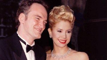 Tarantino with then partner Mira Sorvino at the 1996 Academy Awards.