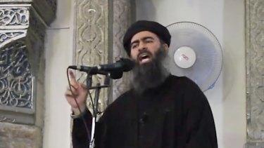 """Islamic State leader and """"caliph"""" Abu Bakr al-Baghdadi."""