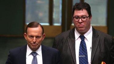 Member for Dawson George Christensen with Prime Minister Tony Abbott in Canberra.