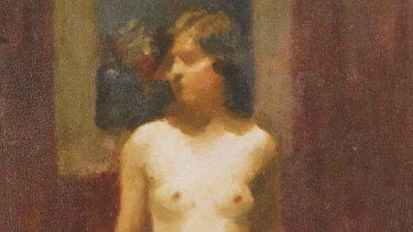 Molly Dean is the model in Standing Nude by Colin Colahan (1897-1987). Sotheby's Australia. From A Scandal in Bohemia, by Gideon Haigh.