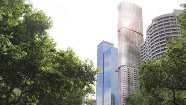 An artist's impression of the tower proposed by Dexus.