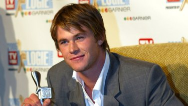 Hemsworth in 2005 with a Logie Award for most popular new male talent.