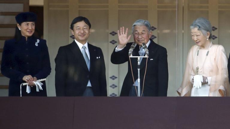 Crown Princess Masako (left) and Crown Prince Naruhito with Emperor Akihito and Empress Michiko in December 2014.