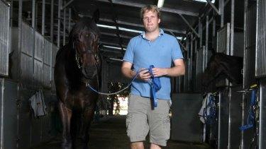 Bjorn Baker at his stables at Warwick Farm.
